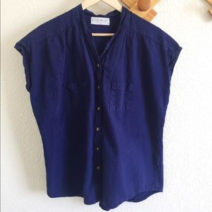 Vintage Ezze Wear Collection Button Oversized Top